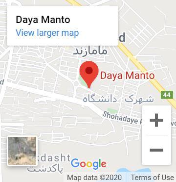دایا مانتو روی نقشه گوگل